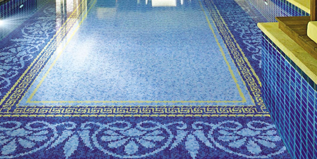 Swimming pool mosaic tiles backyard design ideas for Pool mosaic designs