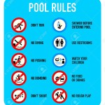 Swimming Pool Rules and Regulations Signs