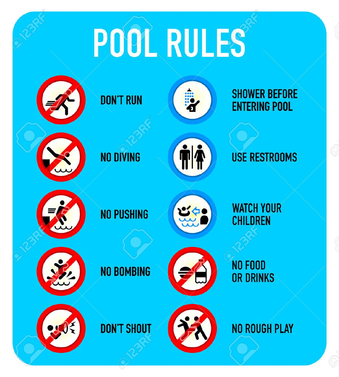 Swimming Pool Rules And Regulations Signs Backyard Design Ideas