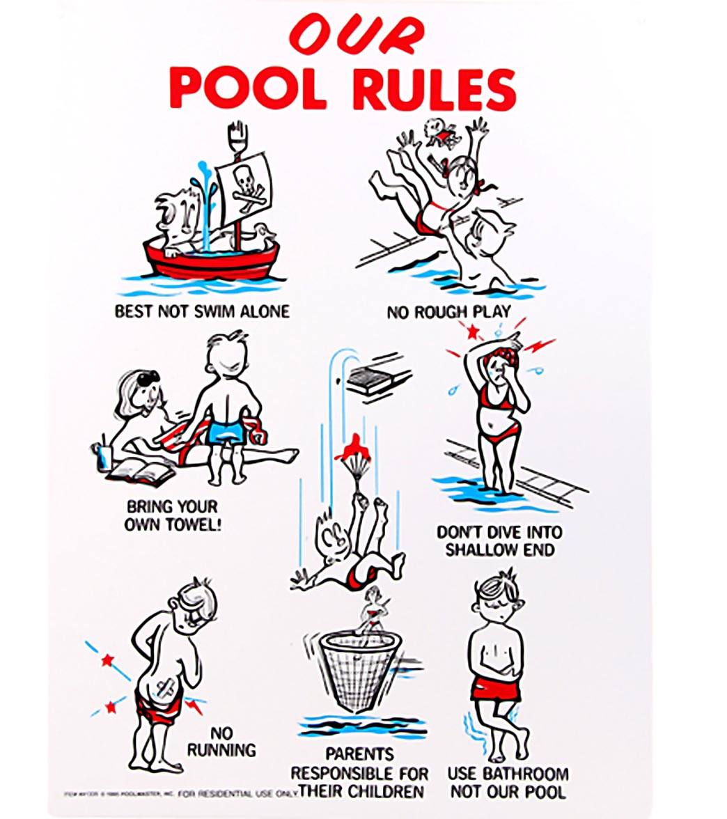 Swimming Pool Rules Sign Backyard Design Ideas