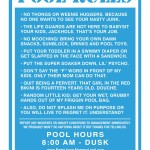 Swimming Pool Rules Signs