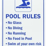 Swimming Pool Signs Rules