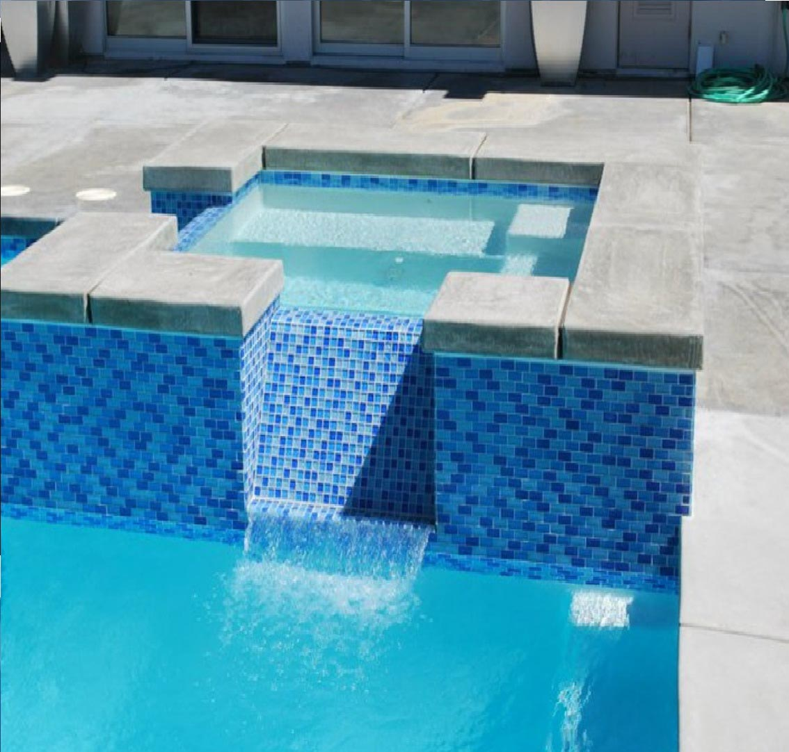 Swimming pool tile replacement backyard design ideas for Pool design tiles