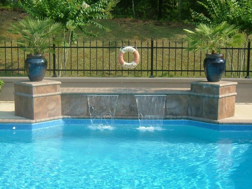 Pool fountains and waterfalls bing images for Pool design 2016