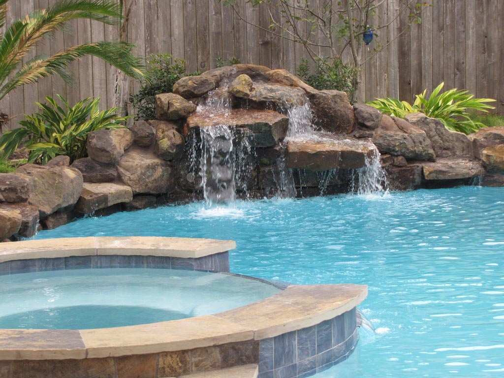 Swimming Pool Waterfall Designs Swimming Pool Waterfall Kits  Backyard Design Ideas