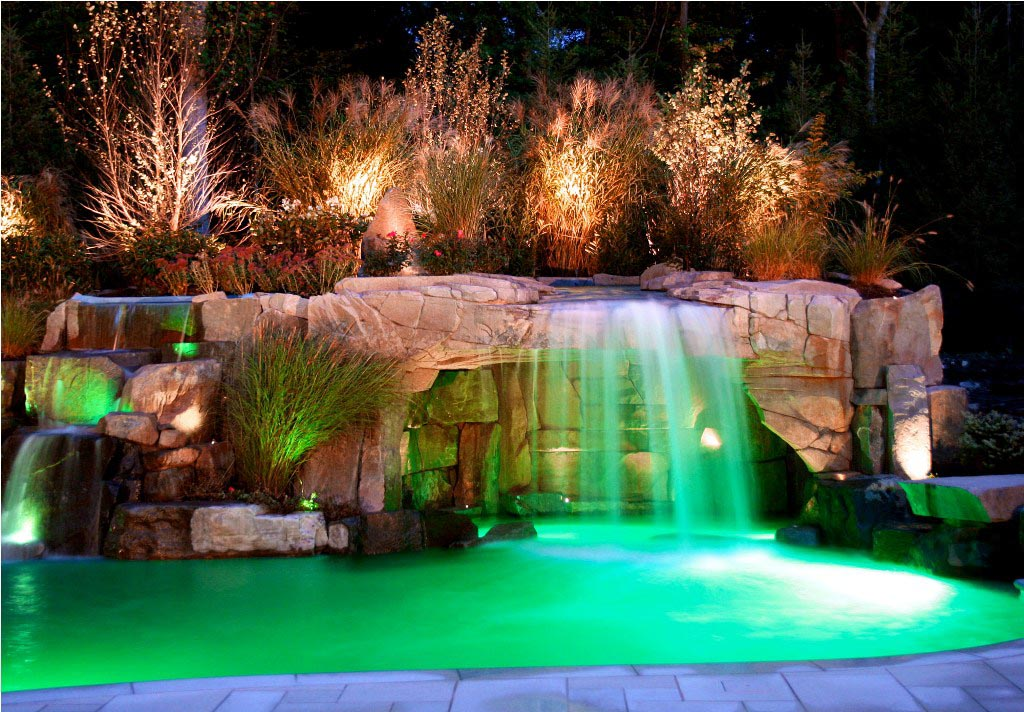 The breath of pool with waterfall backyard design ideas for Waterfall supplies