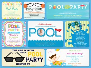 Teen Pool Party Invitations