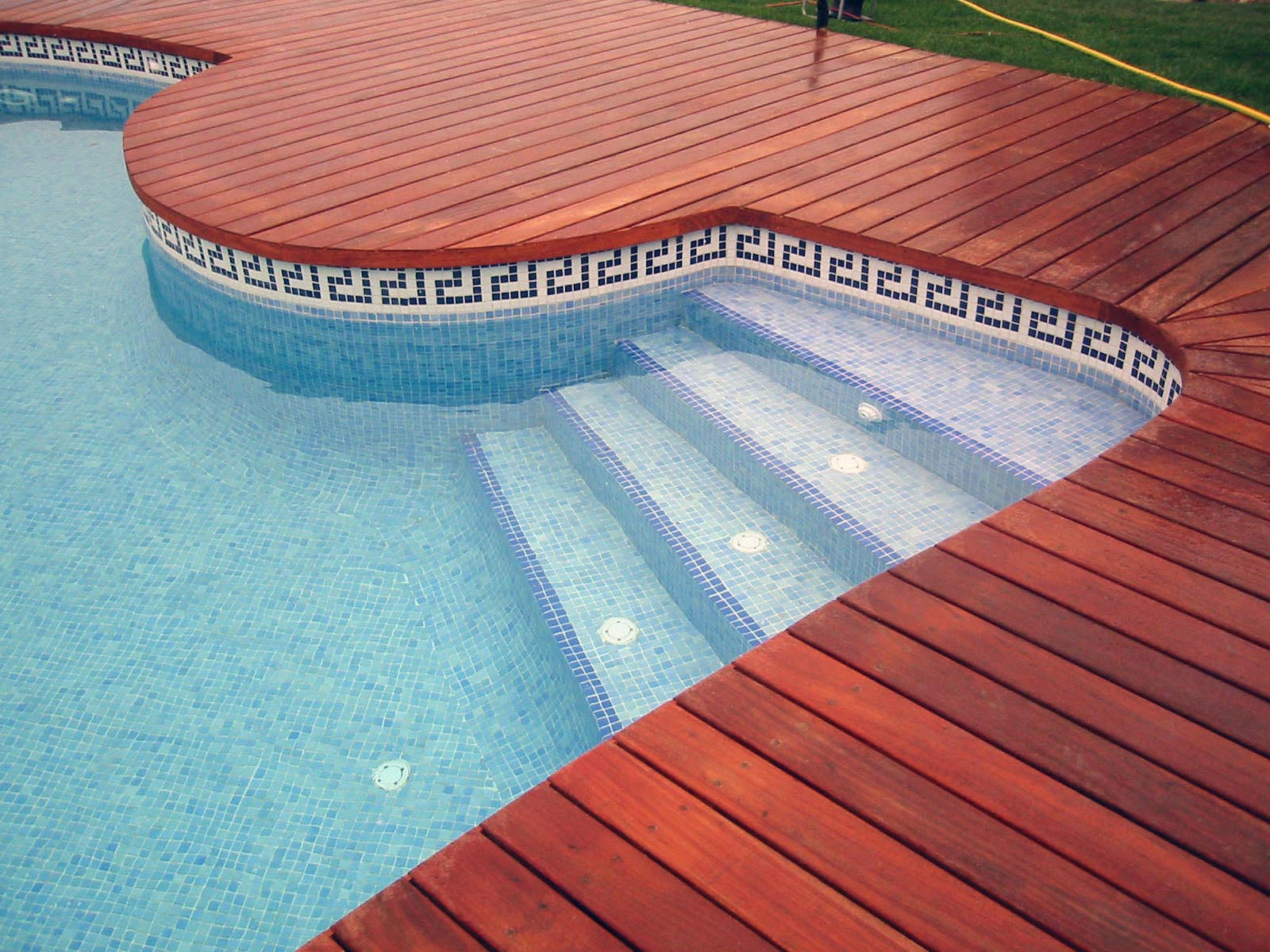 Tile for swimming pool backyard design ideas for Pool design tiles
