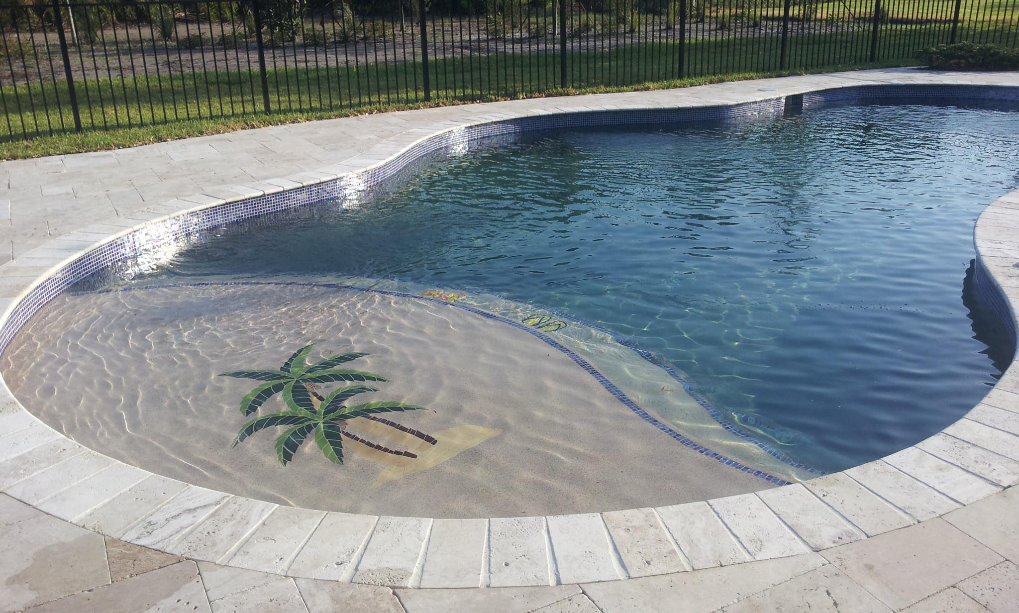 What is swimming pool coping backyard design ideas for In ground pool coping ideas
